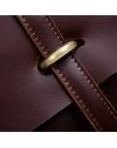 Фотография Потрясающий винтажный кожаный портфель 77082X