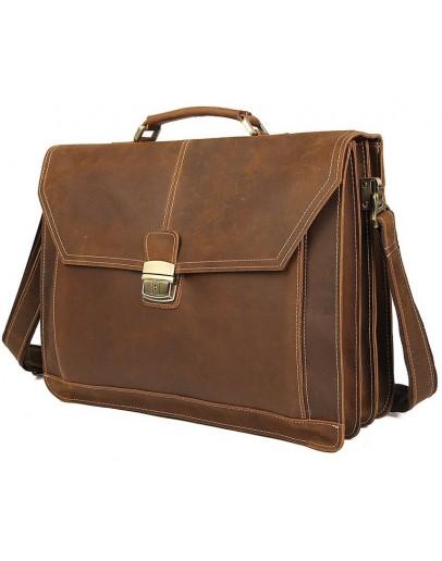 Фотография Удобный и вместительный кожаный портфель 77083