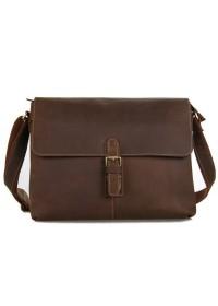 Большая и вместительная сумка из лошадиной кожи на плечо 77084lr