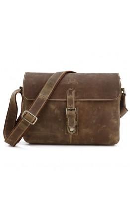 Стильная винтажная мужская кожаная сумка на плечо 77084R