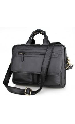 Кожаный крутой портфель отличного качества 77085А