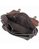 Фотография Сумка серого цвета из натуральной лошадиной кожи на плечо 77089j
