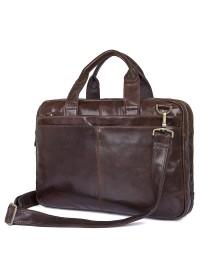 Кожаная мужская функциональная сумка 77092-2С