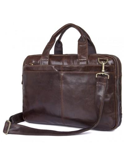 Фотография Кожаная мужская функциональная сумка 77092-2С