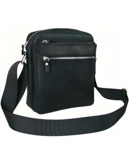 Черная кожаная винтажная сумка на плечо 709217-SGE