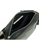 Фотография Черная кожаная винтажная сумка на плечо 709217-SGE