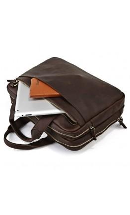 Вместительный портфель из кожи лошади 77092R