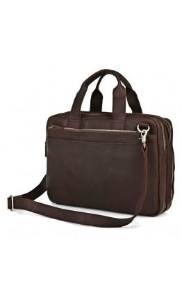 Кожаная мужская деловая сумка 77092R