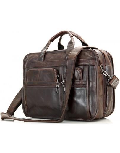 Фотография Большая кожаная мужская сумка, городская 77093Q
