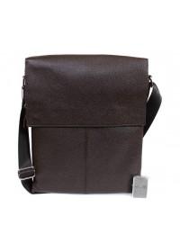Коричневая сумка из натуральной кожи формата А4 7094-1 br