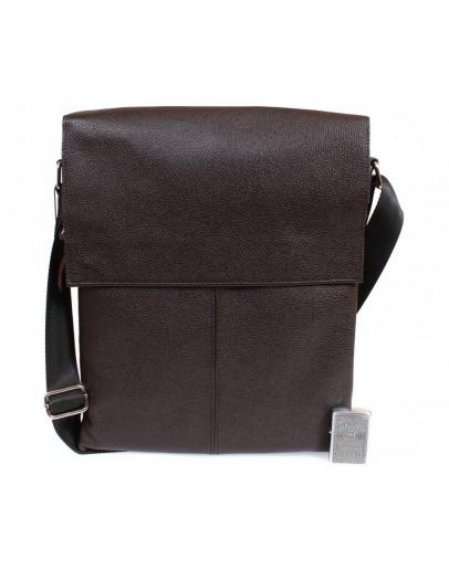 Фотография Коричневая сумка из натуральной кожи формата А4 7094-1 br