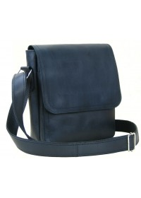 Черная мужская кожаная сумка через плечо 70941-SGE