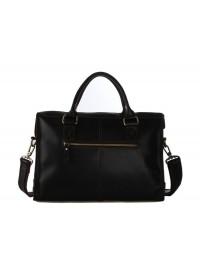 Мужская коричневая сумка - портфель в стиле ретро 77096