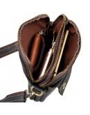 Фотография Черная мужская сумка на плечо среднего размера 71002a