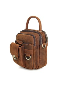 Удобная небольшая кожаная мужская сумка 71003b