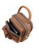 Фотография Удобная небольшая кожаная мужская сумка 71003b
