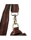 Фотография Коричневая сумка кожаная на плечо среднего размера 71004b