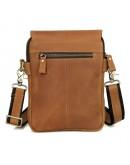 Фотография Коричневая кожаная сумка среднего размера 71006b