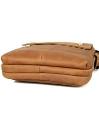 Коричневая кожаная сумка среднего размера 71006b