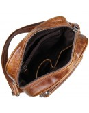Фотография Сумка мужская плечевая коричневого цвета 71008B