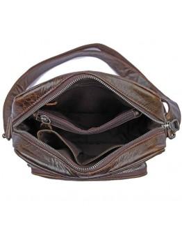 Кожаная мужская сумка шоколадного цвета 71008C