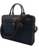 Фотография Тканевый синий мужской портфель 71010301bu