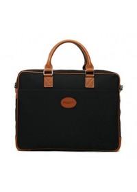 Чёрный мужской тканевый портфель 7101031bl