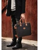 Фотография Чёрный мужской тканевый портфель 7101031bl