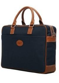 Синий тканевый мужской портфель 7101031bu