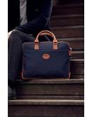 Фотография Синий тканевый мужской портфель 7101031bu