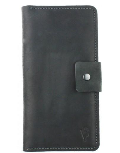 Фотография Вместительное кожаное черное мужское портмоне 71010P-SKE