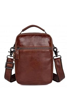 Коричневая мужская сумка - барсетка 71010B