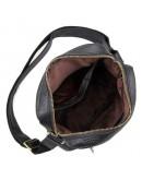 Фотография Кожаная чёрная мужская сумка на плечо без клапана 71011a