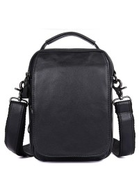 Черная сумка на плечо мужская городская 71012A