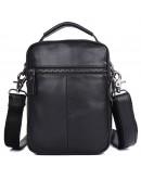 Фотография Черная сумка на плечо мужская городская 71012A