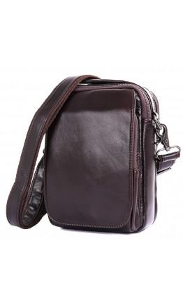 Коричневая сумка на плечо мужская городская 71012C