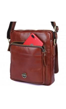 Коричневая мужская сумка на плечо с ручкой для ношения в руке 71016X