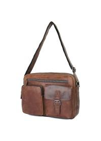 Коричневая мужская сумка кожаная городская 71017C