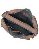 Фотография Коричневая мужская сумка кожаная городская 71017C