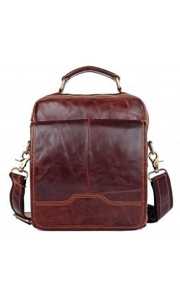 Сумка коричневая мужская для ношения в руке и на плече 71018Q