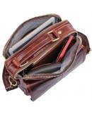 Фотография Сумка коричневая мужская для ношения в руке и на плече 71018Q
