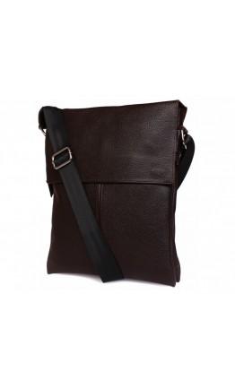 Коричневая мужская кожаная сумка через плечо 7101br