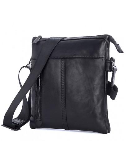 Фотография Кожаная сумка на плечо под планшет и документы 71023a
