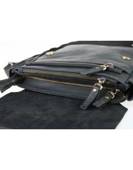 Кожаная черная мужская классическая сумка на плечо 710240-SKE