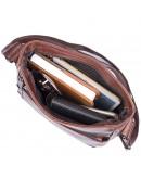 Фотография Коричневая кожаная сумка мужская на плечо 71025c