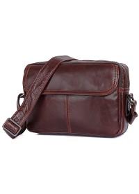 Коричневая мужская сумка кожаная на плечо 71026c