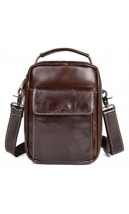 Коричневая сумка мужская кожаная 71027c
