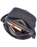Фотография Мужская сумка через плечо большая черная 71030a