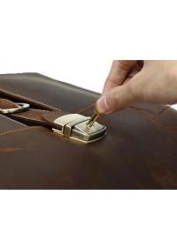 Кожаный мужской портфель коричневого цвета 710315
