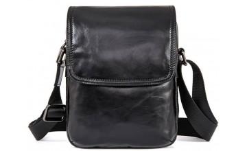 Кожаная мужская сумка, барсетка вертикальная 71031a